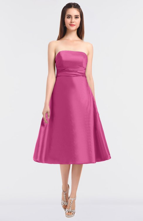ColsBM Stacy Carnation Pink Elegant Ball Gown Bateau Sleeveless Zip up Ruching Bridesmaid Dresses