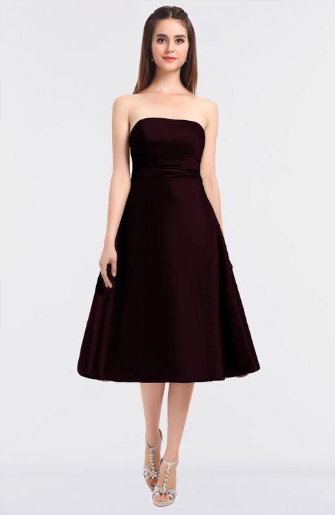 ColsBM Stacy Claret Elegant Ball Gown Bateau Sleeveless Zip up Ruching Bridesmaid Dresses