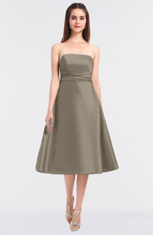 ColsBM Stacy Cobblestone Elegant Ball Gown Bateau Sleeveless Zip up Ruching Bridesmaid Dresses