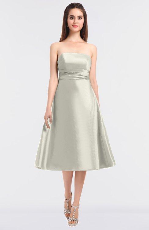 ColsBM Stacy Cream Elegant Ball Gown Bateau Sleeveless Zip up Ruching Bridesmaid Dresses