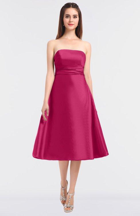 ColsBM Stacy Fuschia Elegant Ball Gown Bateau Sleeveless Zip up Ruching Bridesmaid Dresses
