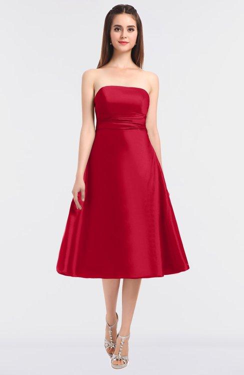 ColsBM Stacy Geranium Elegant Ball Gown Bateau Sleeveless Zip up Ruching Bridesmaid Dresses