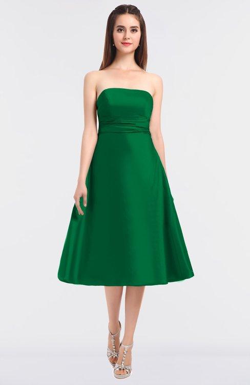ColsBM Stacy Green Elegant Ball Gown Bateau Sleeveless Zip up Ruching Bridesmaid Dresses