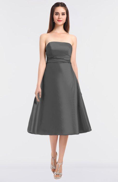 ColsBM Stacy Grey Elegant Ball Gown Bateau Sleeveless Zip up Ruching Bridesmaid Dresses