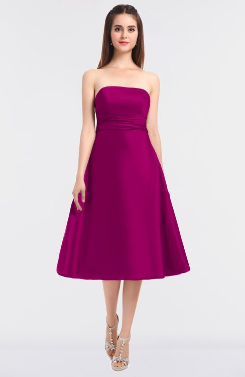 ColsBM Stacy Hot Pink Elegant Ball Gown Bateau Sleeveless Zip up Ruching Bridesmaid Dresses