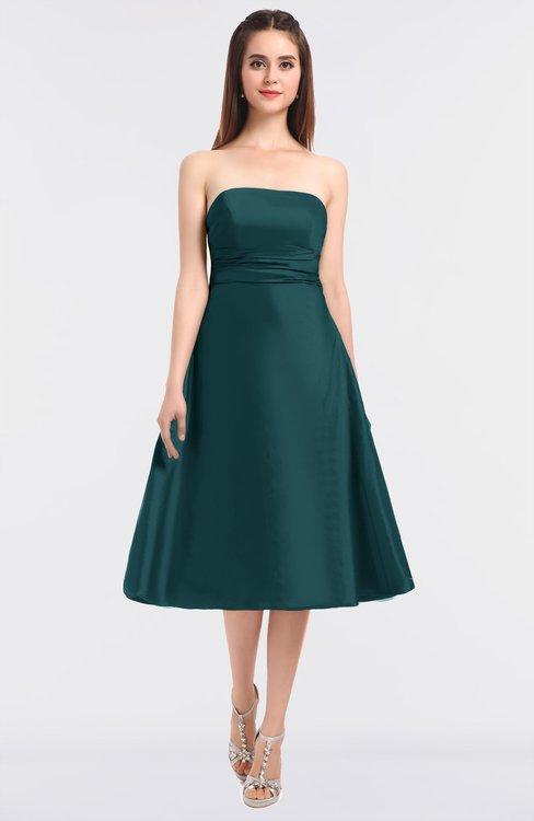 ColsBM Stacy Jade Elegant Ball Gown Bateau Sleeveless Zip up Ruching Bridesmaid Dresses