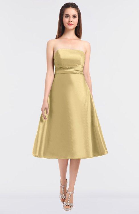 ColsBM Stacy Light Yellow Elegant Ball Gown Bateau Sleeveless Zip up Ruching Bridesmaid Dresses