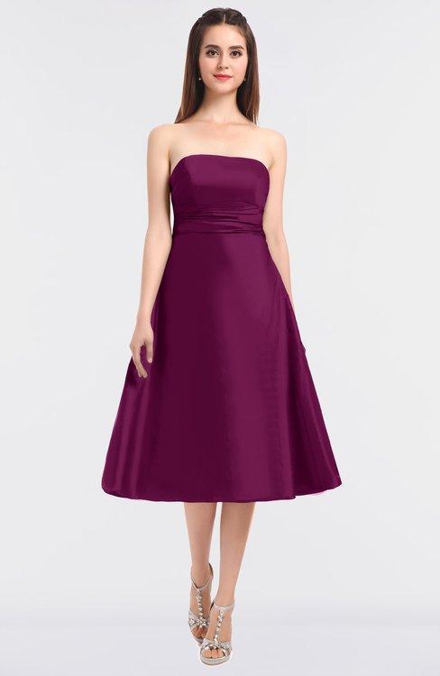 ColsBM Stacy Magenta Purple Elegant Ball Gown Bateau Sleeveless Zip up Ruching Bridesmaid Dresses