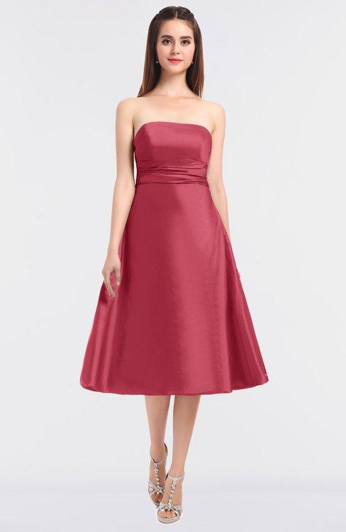ColsBM Stacy Magenta Elegant Ball Gown Bateau Sleeveless Zip up Ruching Bridesmaid Dresses