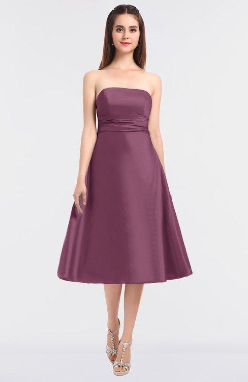 ColsBM Stacy Mauve Elegant Ball Gown Bateau Sleeveless Zip up Ruching Bridesmaid Dresses