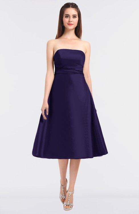 ColsBM Stacy Mulberry Purple Elegant Ball Gown Bateau Sleeveless Zip up Ruching Bridesmaid Dresses