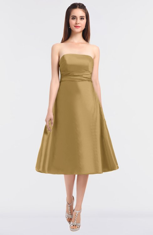 ColsBM Stacy New Wheat Elegant Ball Gown Bateau Sleeveless Zip up Ruching Bridesmaid Dresses