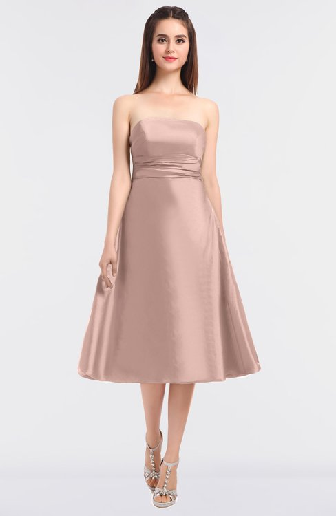 ColsBM Stacy Pastel Pink Elegant Ball Gown Bateau Sleeveless Zip up Ruching Bridesmaid Dresses
