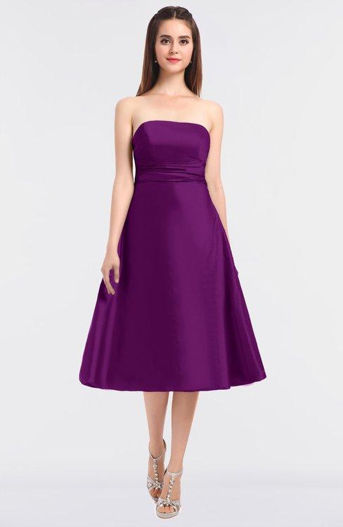 ColsBM Stacy Persian Plum Elegant Ball Gown Bateau Sleeveless Zip up Ruching Bridesmaid Dresses