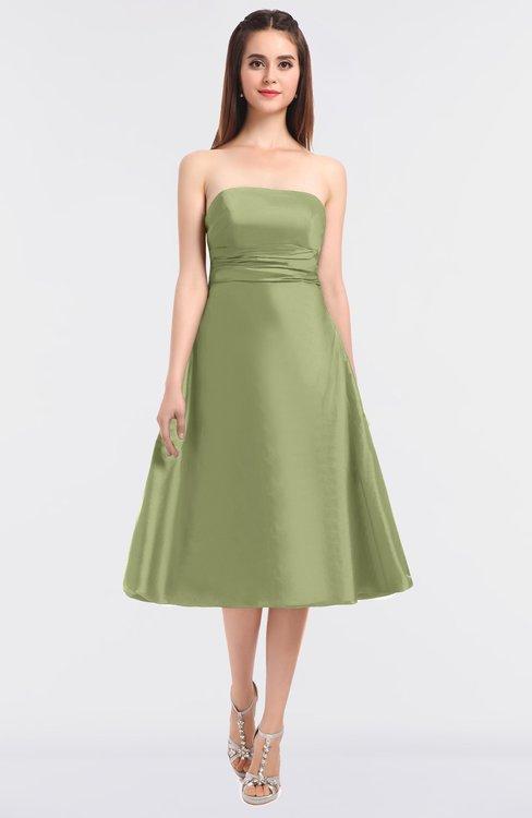 ColsBM Stacy Pistachio Elegant Ball Gown Bateau Sleeveless Zip up Ruching Bridesmaid Dresses