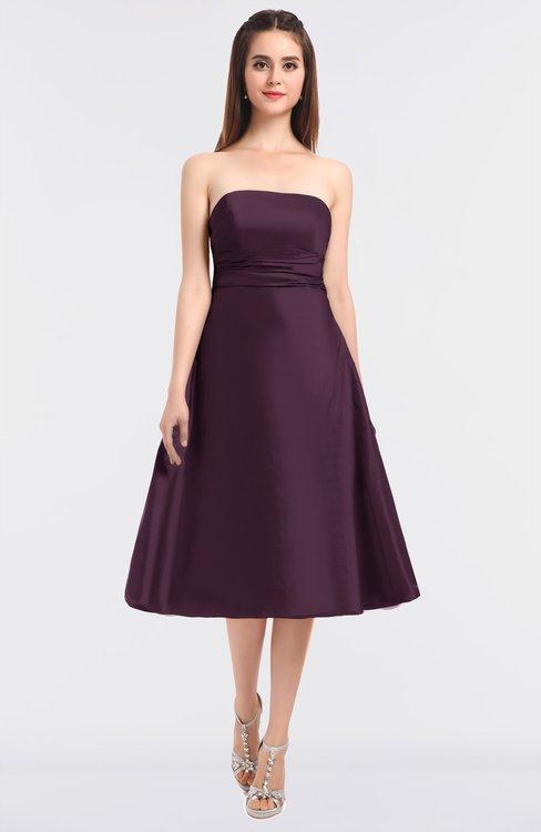 ColsBM Stacy Plum Elegant Ball Gown Bateau Sleeveless Zip up Ruching Bridesmaid Dresses