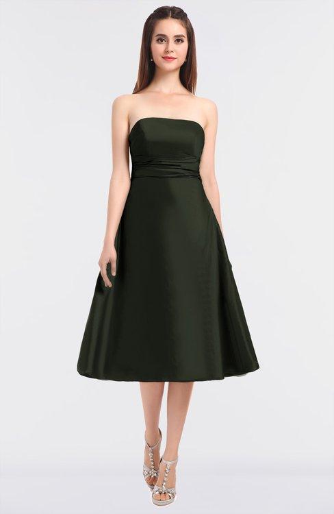ColsBM Stacy Rifle Green Elegant Ball Gown Bateau Sleeveless Zip up Ruching Bridesmaid Dresses