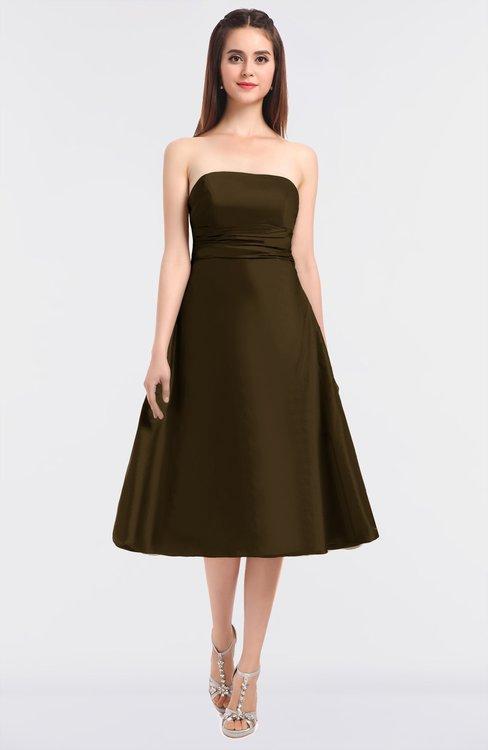 ColsBM Stacy Slate Black Elegant Ball Gown Bateau Sleeveless Zip up Ruching Bridesmaid Dresses