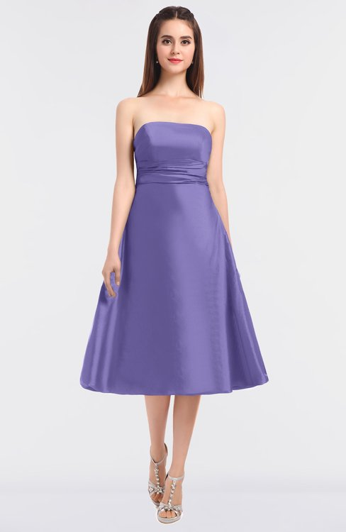 ColsBM Stacy Violet Tulip Elegant Ball Gown Bateau Sleeveless Zip up Ruching Bridesmaid Dresses