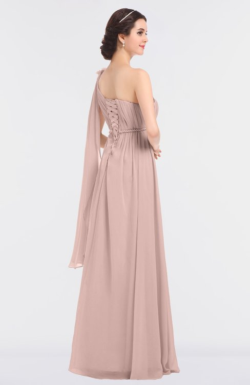 97a26b50dbccc ... ColsBM Lucy Dusty Rose Mature Asymmetric Neckline Sleeveless Zip up  Floor Length Ruching Bridesmaid Dresses