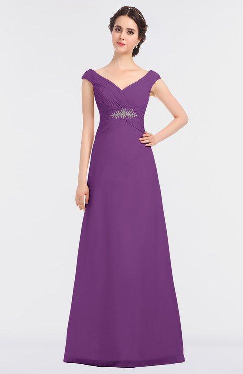ColsBM Nadia Dahlia Elegant A-line Short Sleeve Zip up Floor Length Beaded Bridesmaid Dresses
