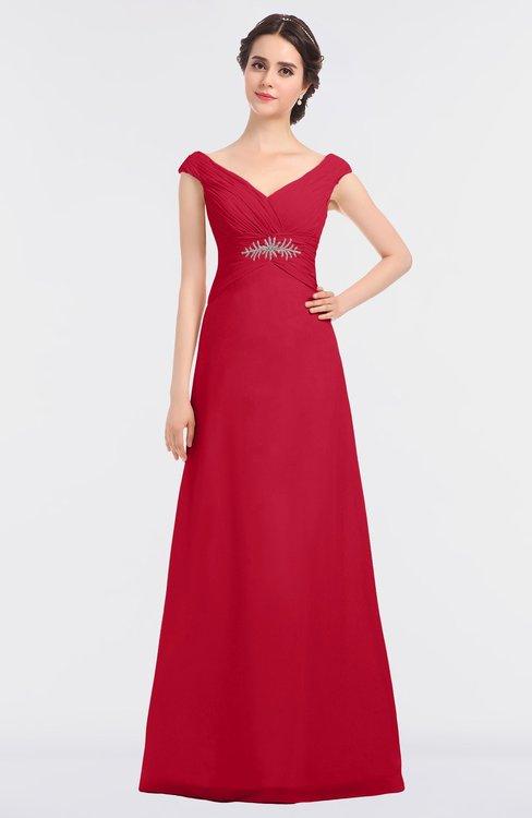 ColsBM Nadia Lollipop Elegant A-line Short Sleeve Zip up Floor Length Beaded Bridesmaid Dresses