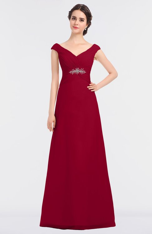 ColsBM Nadia Scooter Elegant A-line Short Sleeve Zip up Floor Length Beaded Bridesmaid Dresses