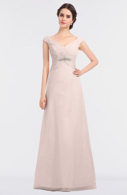 ColsBM Nadia Silver Peony Elegant A-line Short Sleeve Zip up Floor Length Beaded Bridesmaid Dresses