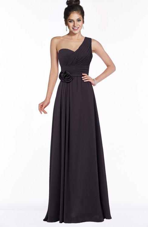 ColsBM Tegan Perfect Plum Modern Sleeveless Zip up Chiffon Floor Length Flower Bridesmaid Dresses