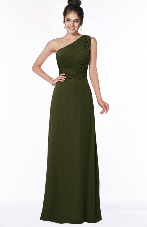 ColsBM Adalyn Beech Mature Sheath Sleeveless Half Backless Chiffon Ruching Bridesmaid Dresses