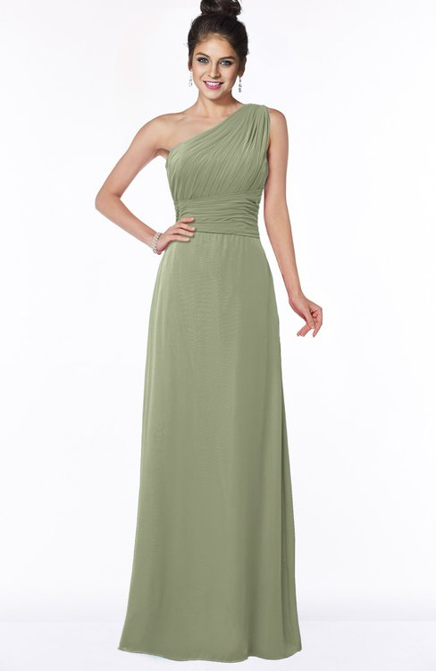 ColsBM Adalyn Bog Mature Sheath Sleeveless Half Backless Chiffon Ruching Bridesmaid Dresses