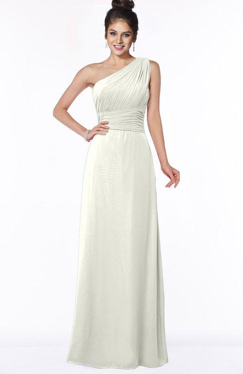 ColsBM Adalyn Cream Mature Sheath Sleeveless Half Backless Chiffon Ruching Bridesmaid Dresses