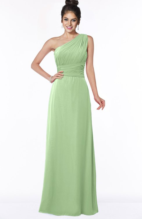 ColsBM Adalyn Gleam Mature Sheath Sleeveless Half Backless Chiffon Ruching Bridesmaid Dresses