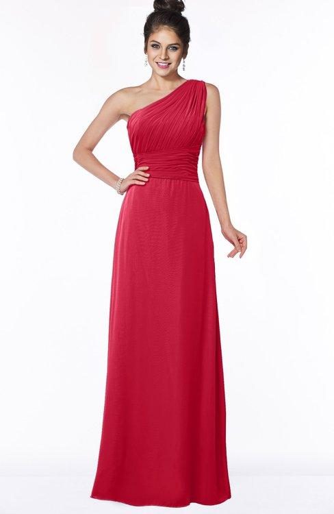 ColsBM Adalyn Lollipop Mature Sheath Sleeveless Half Backless Chiffon Ruching Bridesmaid Dresses