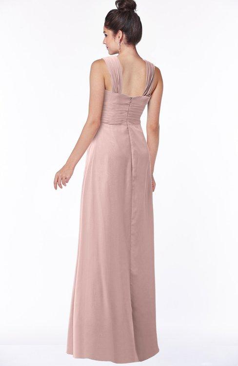 fc23ed455e61 ... ColsBM Isla Blush Pink Elegant V-neck Sleeveless Chiffon Floor Length  Ruching Bridesmaid Dresses