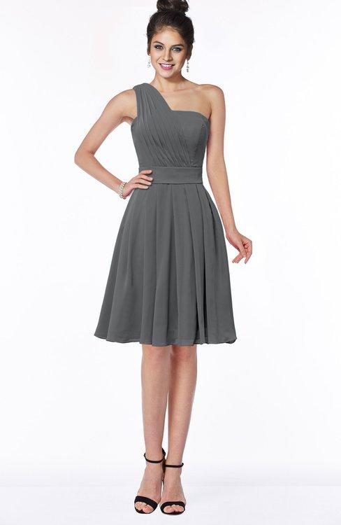 ColsBM Sophia Grey Cute A-line Sleeveless Chiffon Ruching Bridesmaid Dresses