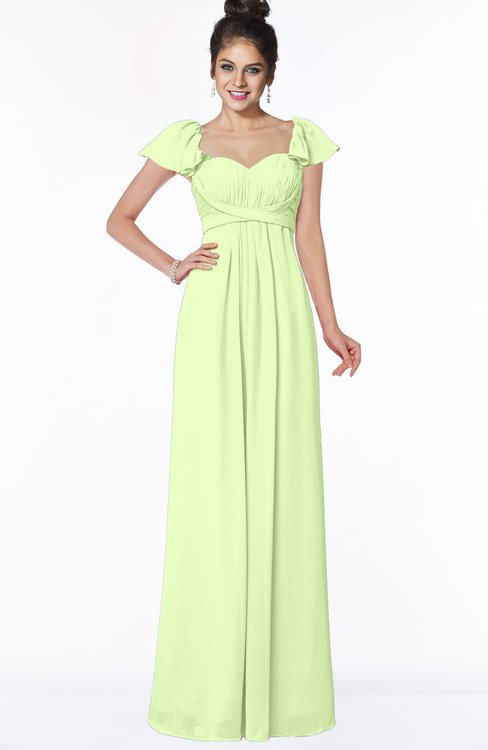 ColsBM Siena Butterfly Modern A-line Wide Square Short Sleeve Zip up Pleated Bridesmaid Dresses