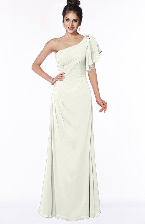ColsBM Naomi Cream Glamorous A-line Short Sleeve Half Backless Chiffon Floor Length Bridesmaid Dresses