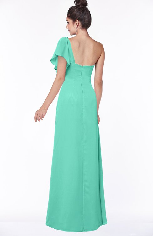 0bd3868b30d ... ColsBM Naomi Seafoam Green Glamorous A-line Short Sleeve Half Backless  Chiffon Floor Length Bridesmaid