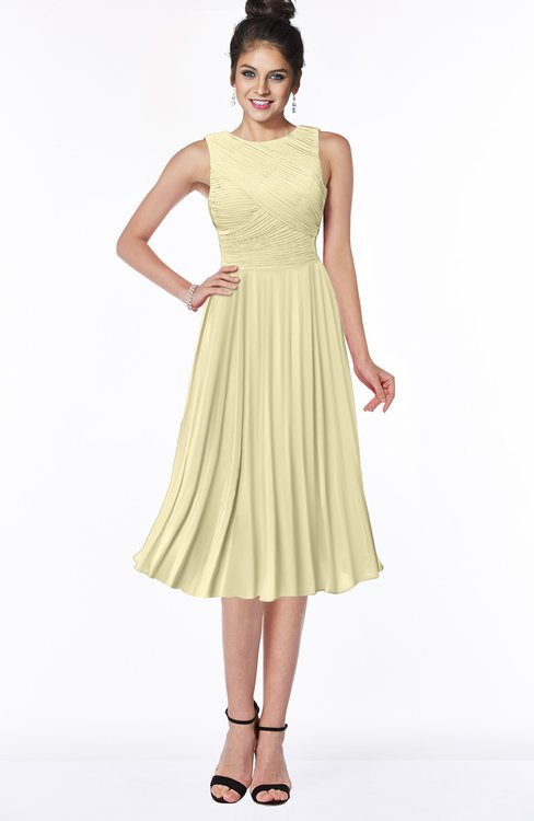 ColsBM Aileen Anise Flower Gorgeous A-line Sleeveless Chiffon Pick up Bridesmaid Dresses