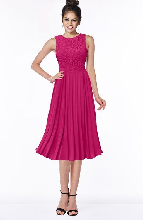ColsBM Aileen Beetroot Purple Gorgeous A-line Sleeveless Chiffon Pick up Bridesmaid Dresses