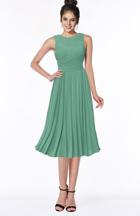 ColsBM Aileen Beryl Green Gorgeous A-line Sleeveless Chiffon Pick up Bridesmaid Dresses