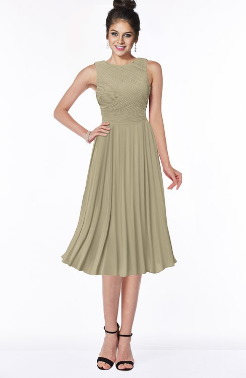 ColsBM Aileen Candied Ginger Gorgeous A-line Sleeveless Chiffon Pick up Bridesmaid Dresses