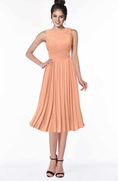 ColsBM Aileen Salmon Gorgeous A-line Sleeveless Chiffon Pick up Bridesmaid Dresses