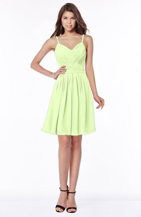 ColsBM Vera Butterfly Modest A-line Sleeveless Zip up Knee Length Ruching Bridesmaid Dresses