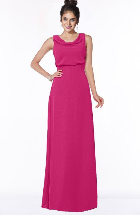 ColsBM Eileen Beetroot Purple Gorgeous A-line Scoop Sleeveless Floor Length Bridesmaid Dresses