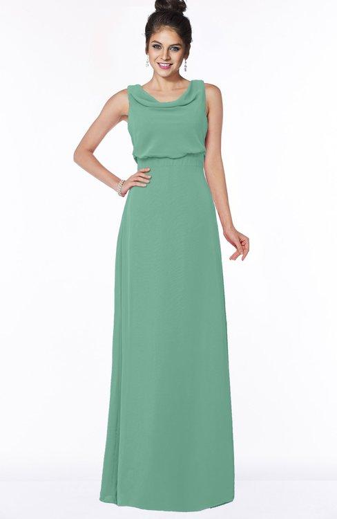 ColsBM Eileen Beryl Green Gorgeous A-line Scoop Sleeveless Floor Length Bridesmaid Dresses