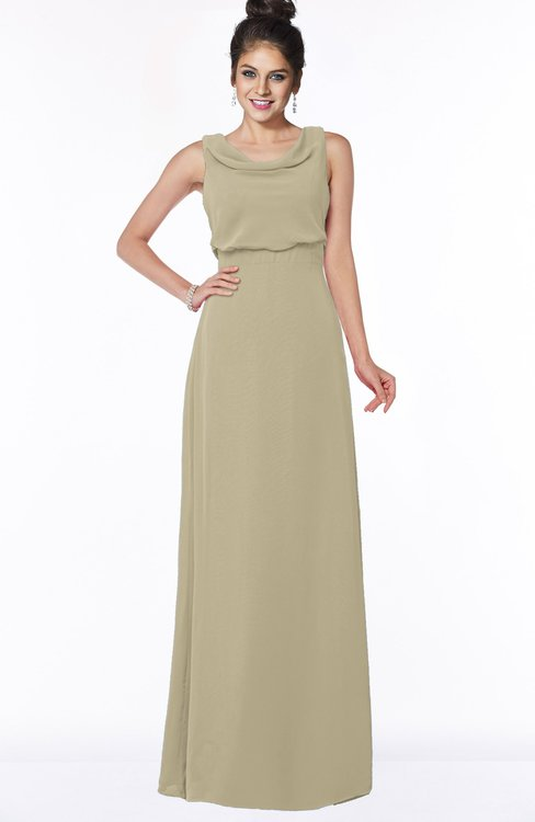 ColsBM Eileen Candied Ginger Gorgeous A-line Scoop Sleeveless Floor Length Bridesmaid Dresses