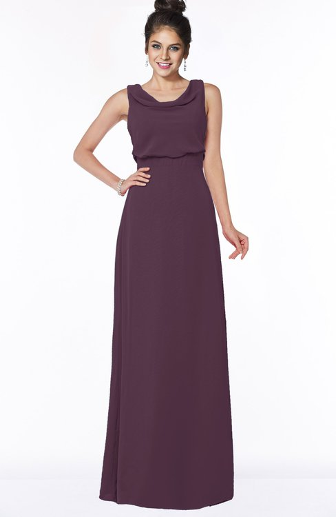 ColsBM Eileen Plum Gorgeous A-line Scoop Sleeveless Floor Length Bridesmaid Dresses