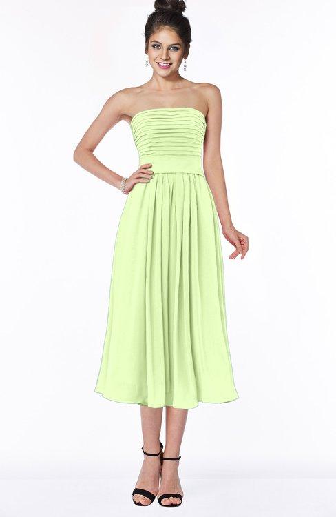 ColsBM Deborah Butterfly Luxury Sleeveless Half Backless Chiffon Knee Length Pick up Bridesmaid Dresses